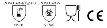pictograma guantes de nitrilo SIS